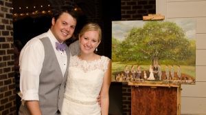 Tyler Allie Live Wedding Painting at the Oaks at Salem-3