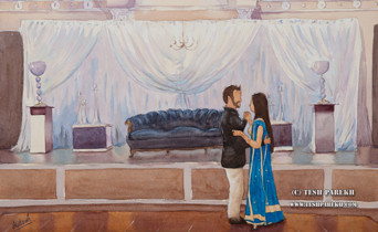 Wedding Painting at the Cypress Manor in Cary NC