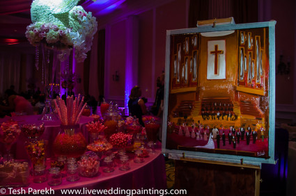 LIVE Wedding Painting by Tesh Parekh, Artist
