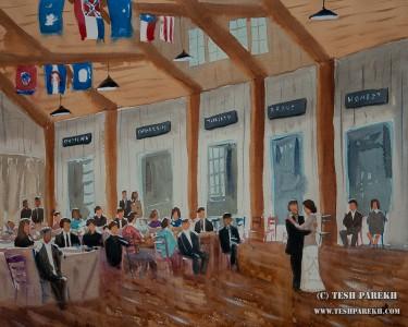 Asheville Live Wedding Painter – Camp Wayfarer First Dance Painting { Ashley + Ben }