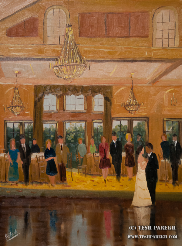 First dance of Katherine and Manny. Painted live at NRCC