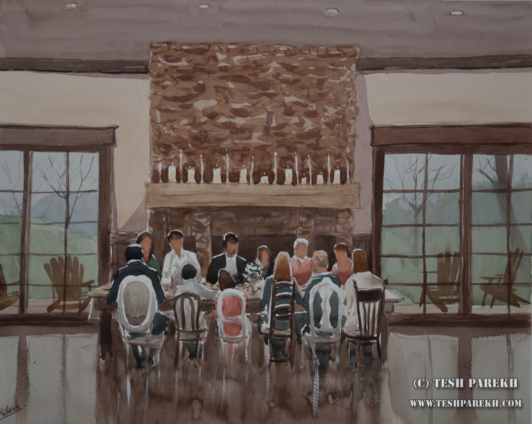 Live Event Painting at the Arbors in Charlotte NC for Inspire Weddings & Marriage magazine