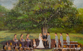 Allie & Tyler Wedding Painting at the Oaks at Salem