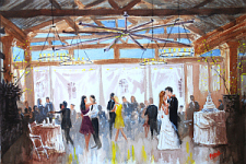Angus Barn LIVE wedding painting
